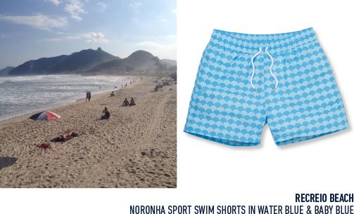 Wear Noronha Sports Trunks while discovering the best scuba diving spots in Rio with Frescobol Carioca
